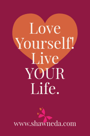 Love Yourself Live Your life pinterest graphic