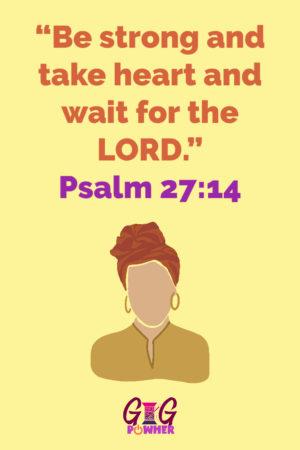 Briana Signature Scripture Psalm 27 14