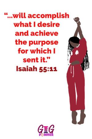 Phoebe Signature Scripture Isaiah 55:11