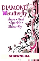 Diamond Butterfy Share Heal Sparkle Shine Fly