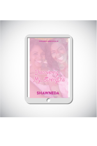 eReader with Discovering My Strengths cover on the screen
