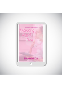 eReader with Embracing Myself Now cover on the screen