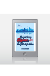 eReader with cover of Making Moves in Metropolis ebook on the screen