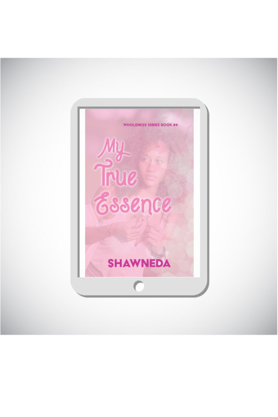 eReader with My True Essence cover on the screen