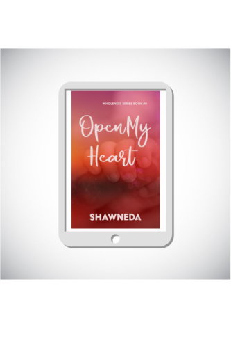 eReader with Open My Heart cover on the screen