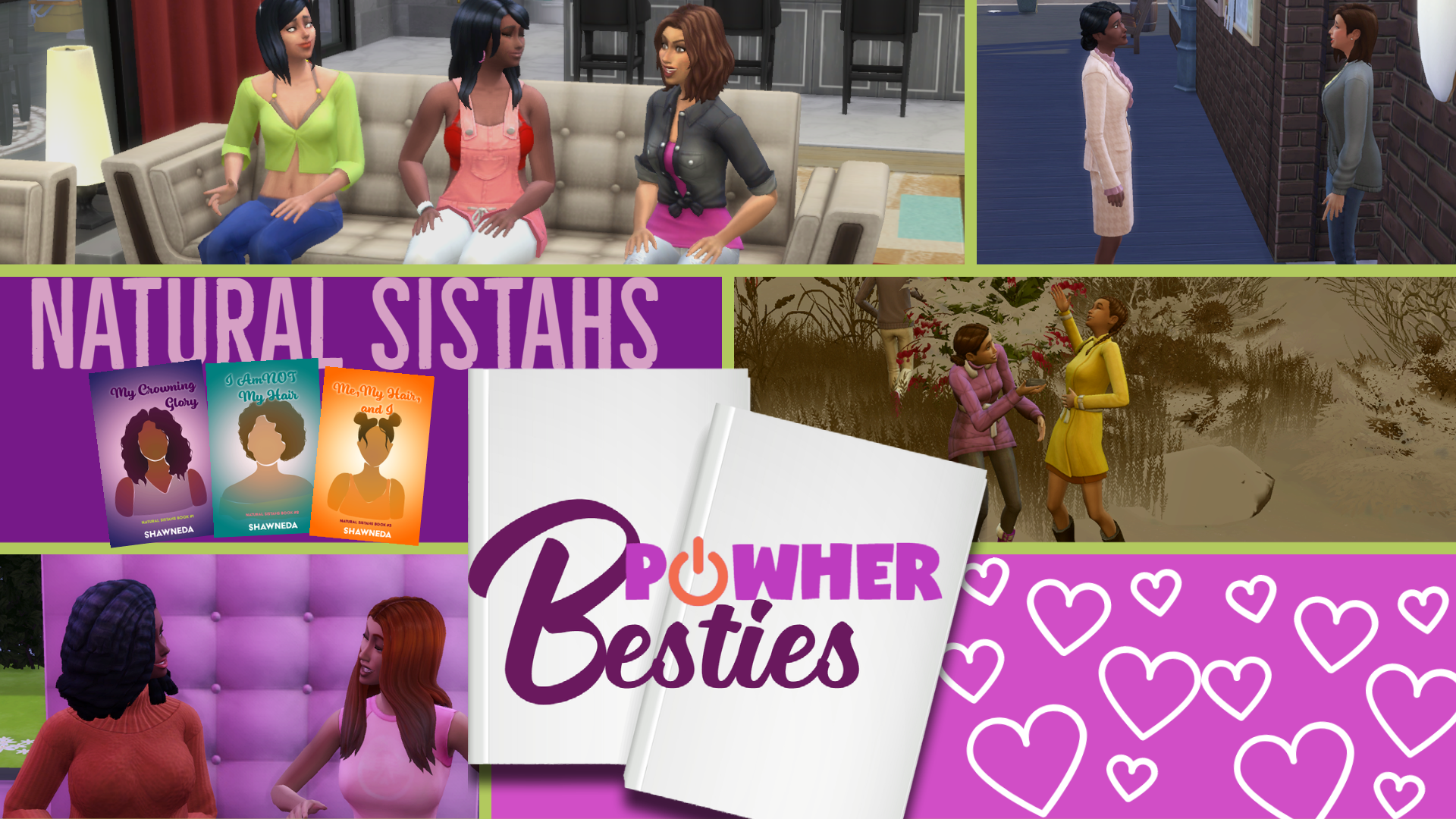 Transition Screen for Natural Sistahs PowHer Besties series
